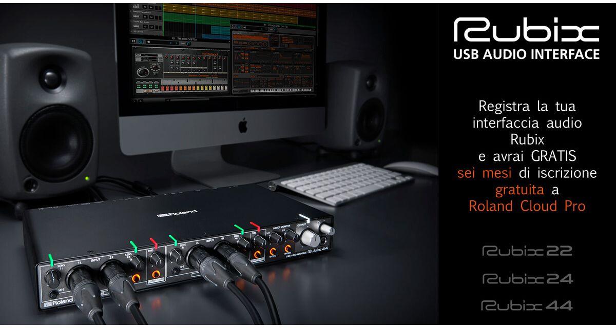 6 mesi GRATUITI a Roland Cloud Pro con Roland Rubix