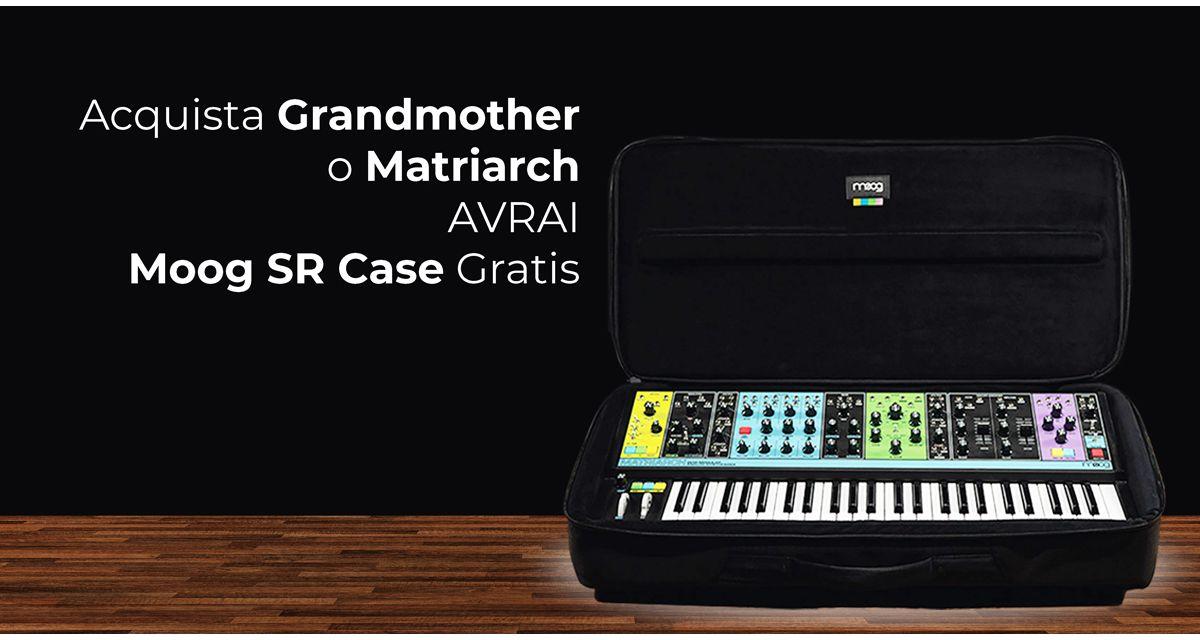 Ricevi un Moog SR Case Gratis
