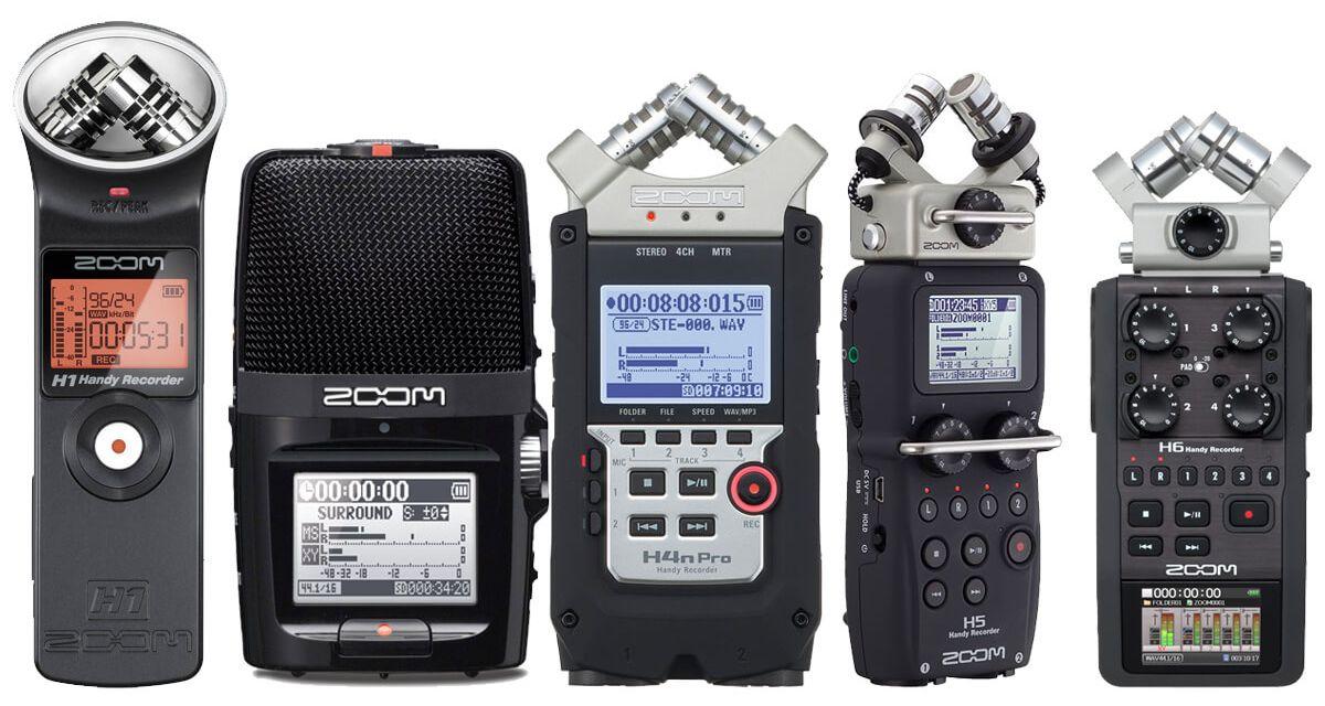 Zoom registratori digitali: i migliori modelli H1, H2, H5, H6