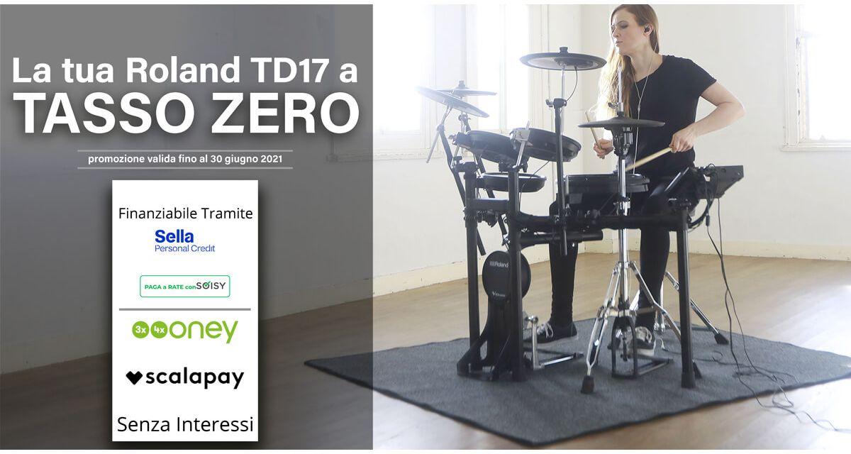 La tua Roland TD17 a TASSO ZERO