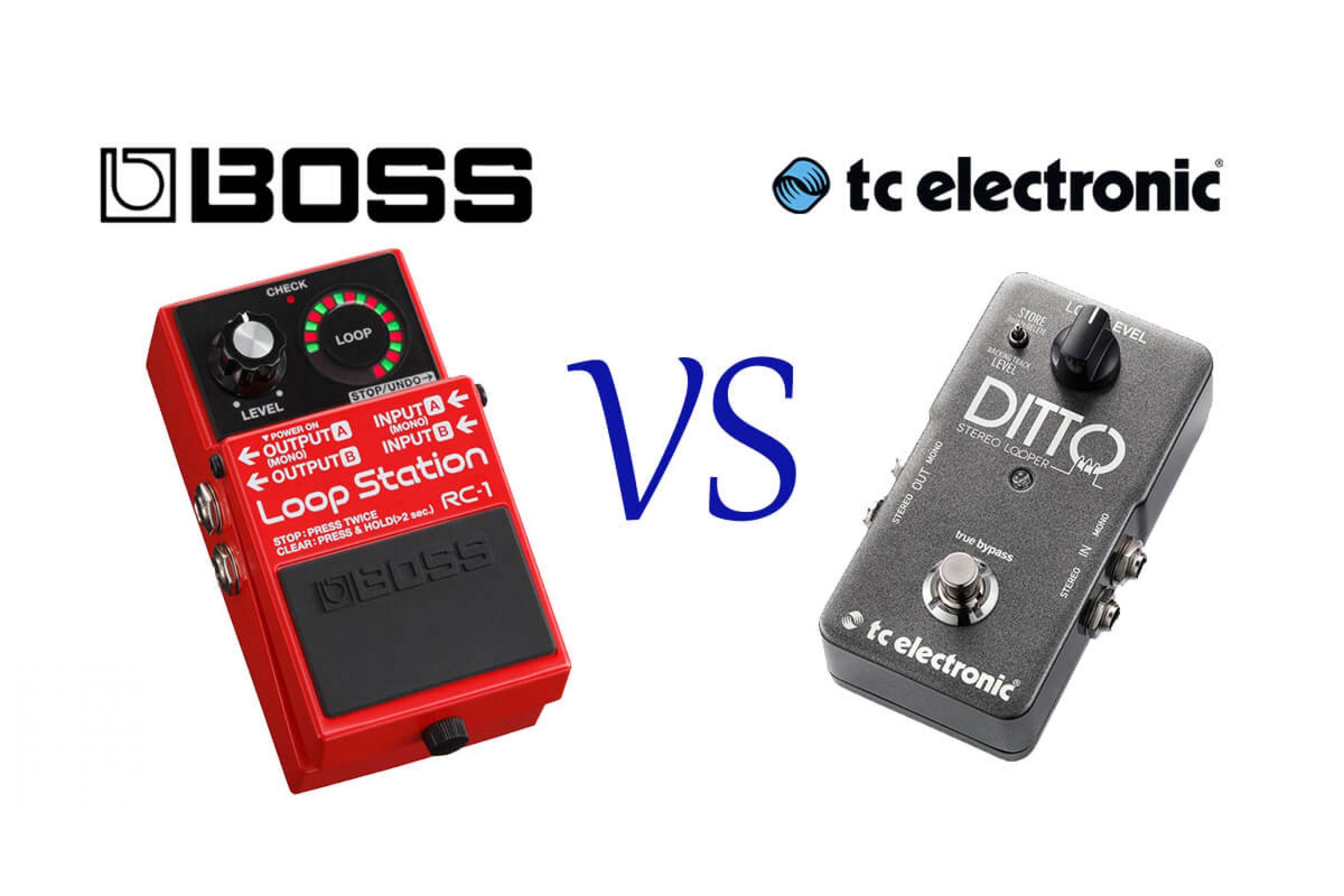 Boss RC1 vs TC Electronic DITTO: Recensione, confronto e caratteristiche