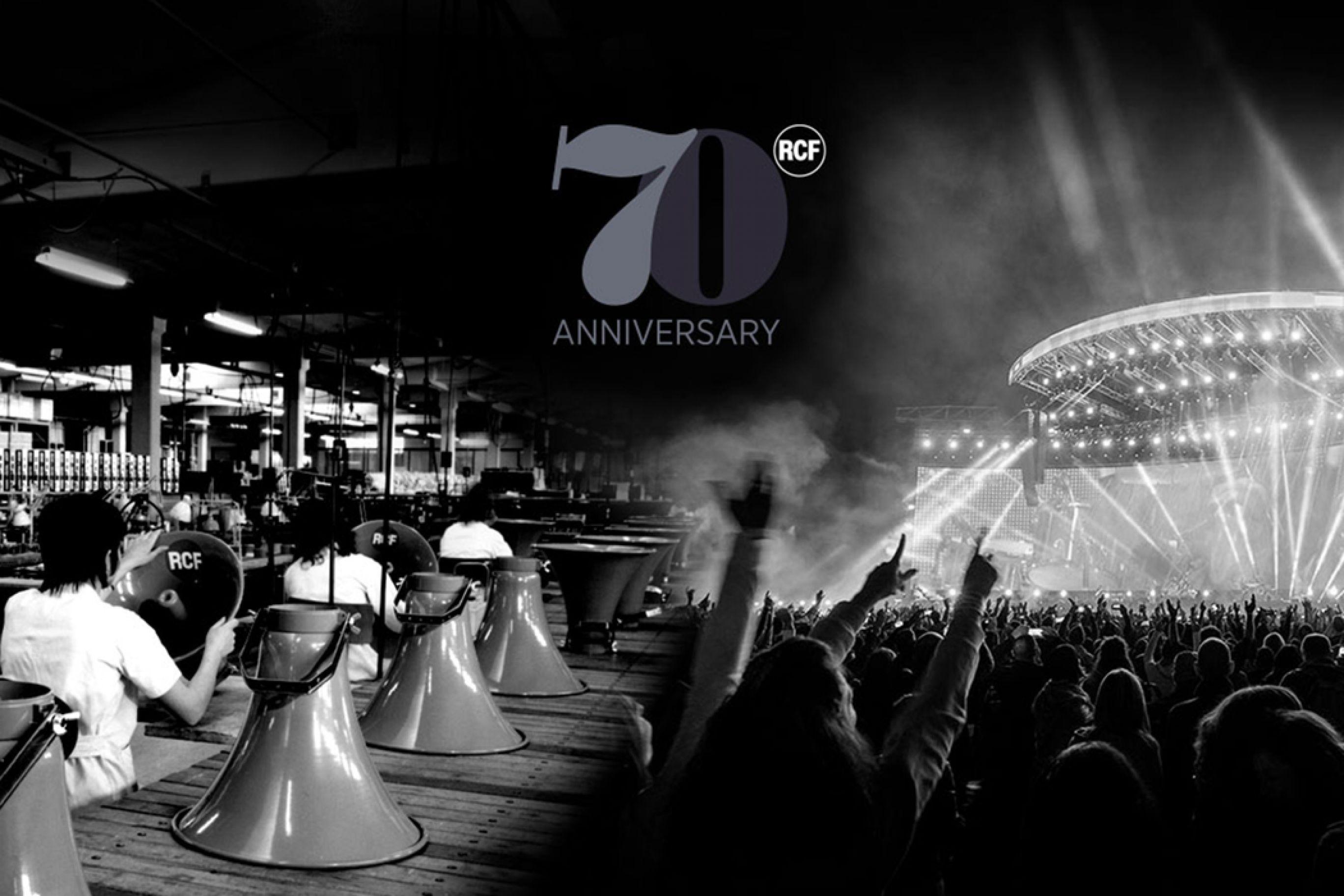 RCF festeggia 70 anni - Casse Attive Promozioni su tutta la serie