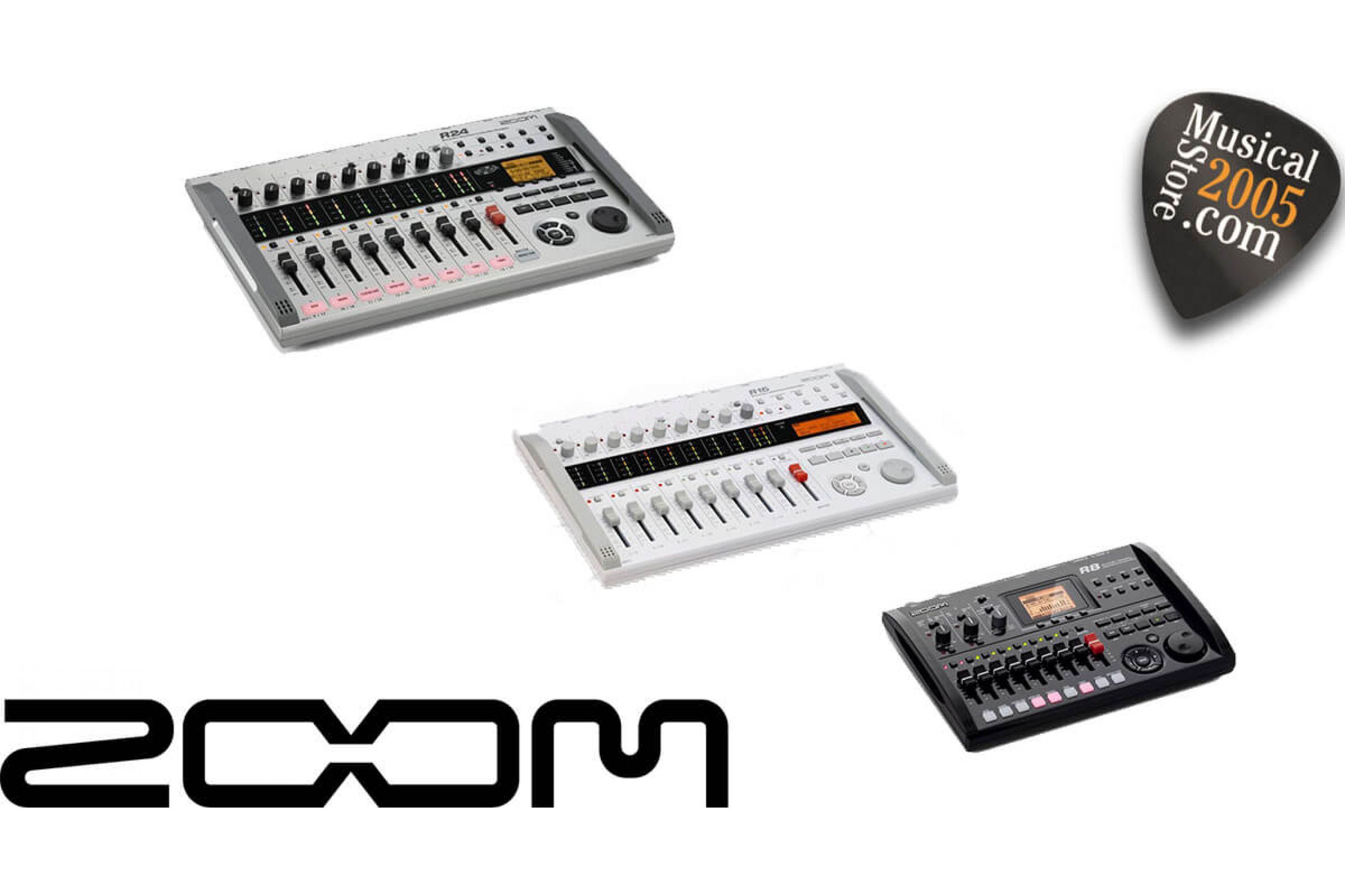 Zoom registratori digitali multitraccia R8, R16, R24