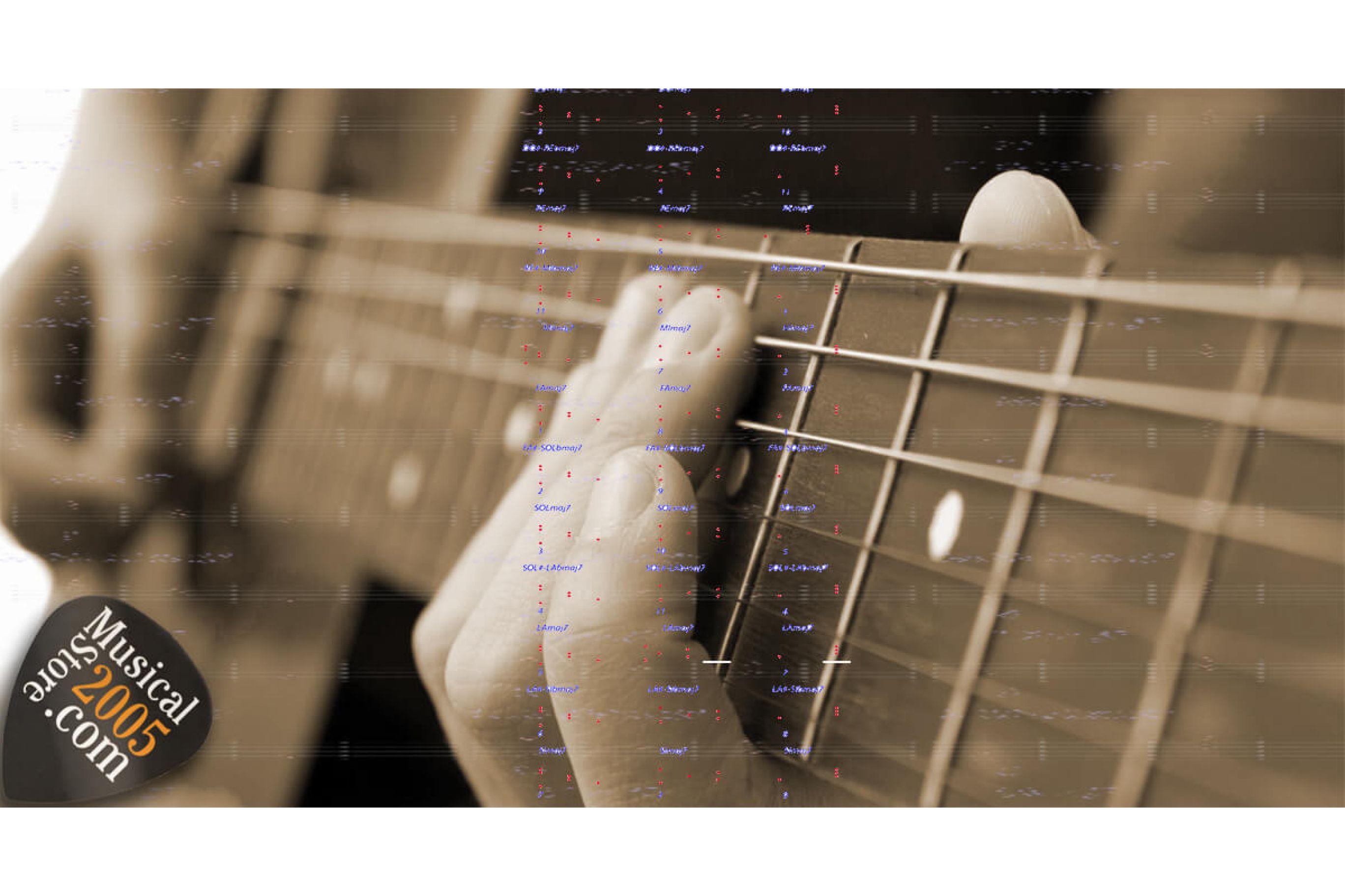 Tutti gli accordi per chitarra e tabella degli Intervalli