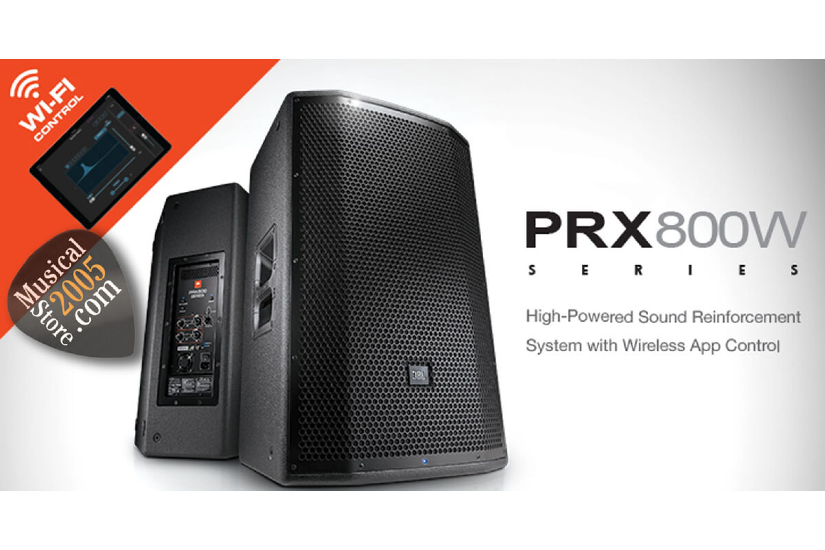 Nuova serie JBL PRX 800 con controllo Wireless