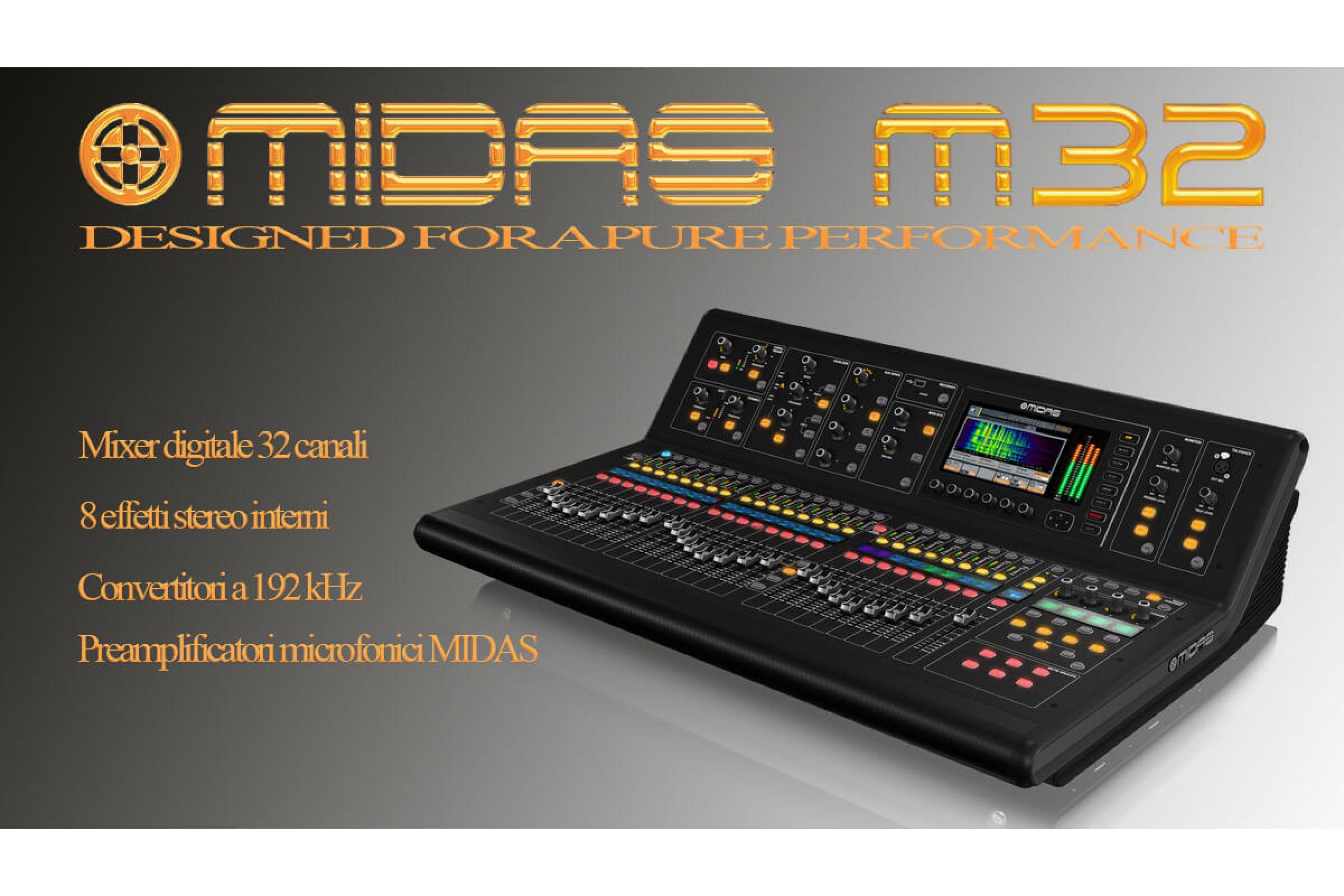 Midas M32: il mixer digitale Midas nato per oggi e per domani