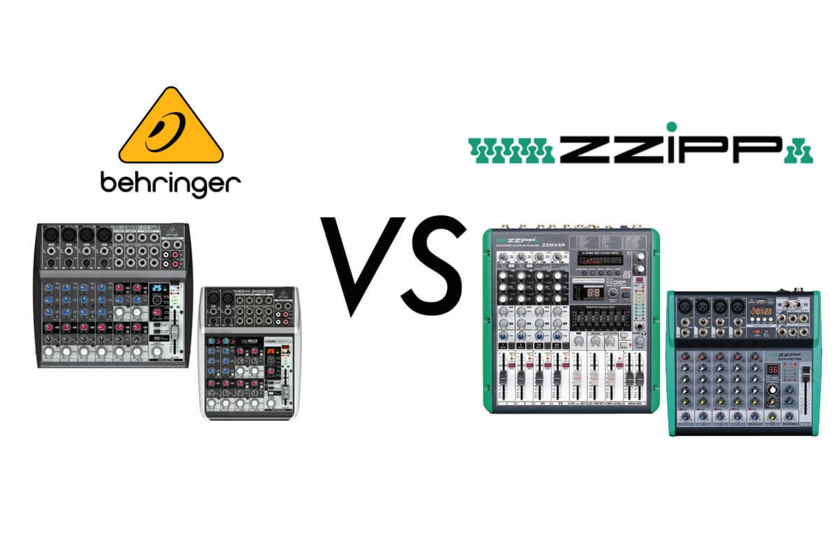 Mixer audio Behringer Vs. Mixer audio ZZIPP