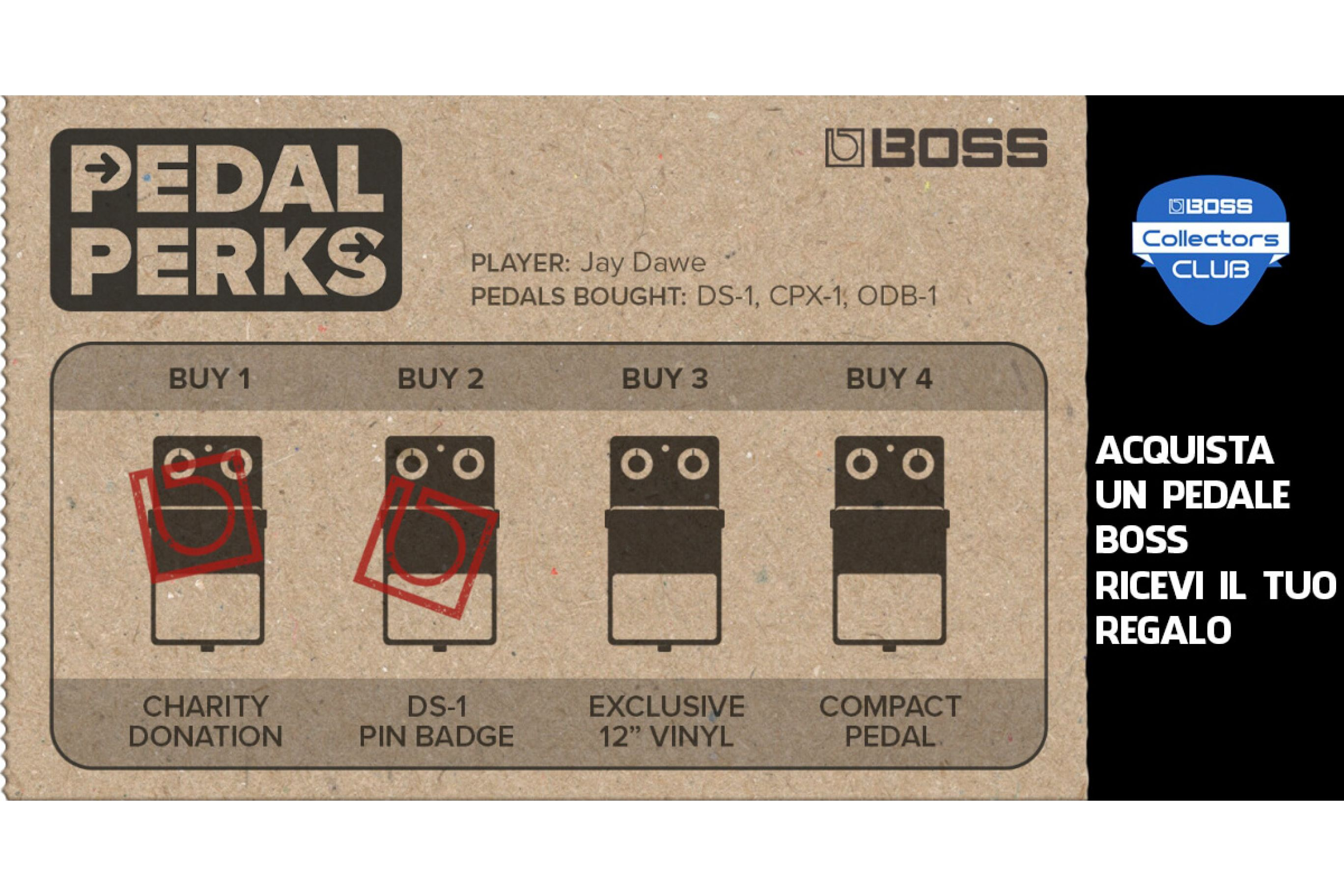 Boss Collectors Club - Pedal Perks