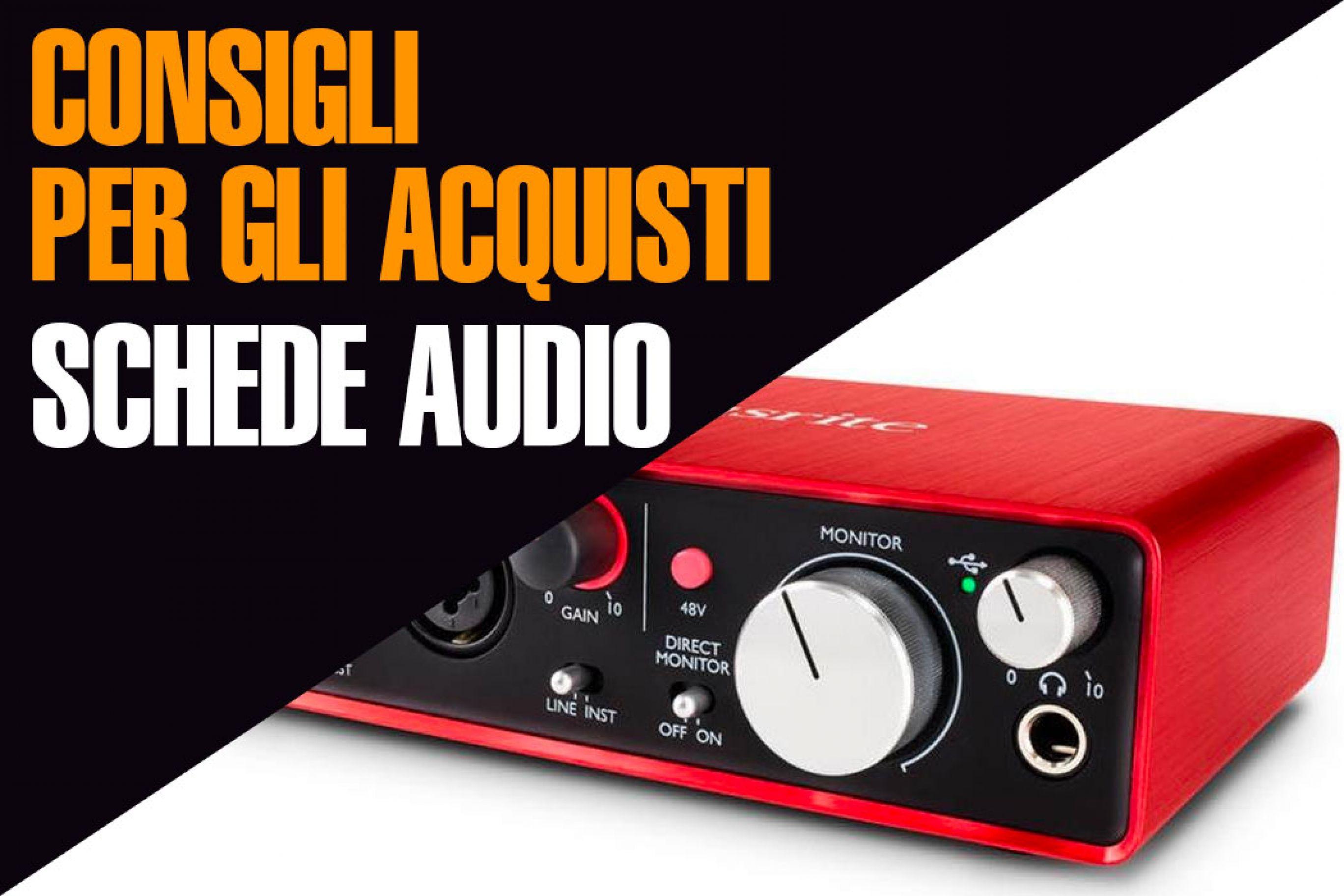 Scheda audio esterna, quale scegliere: Universal Audio, Focusrite o M-Audio?
