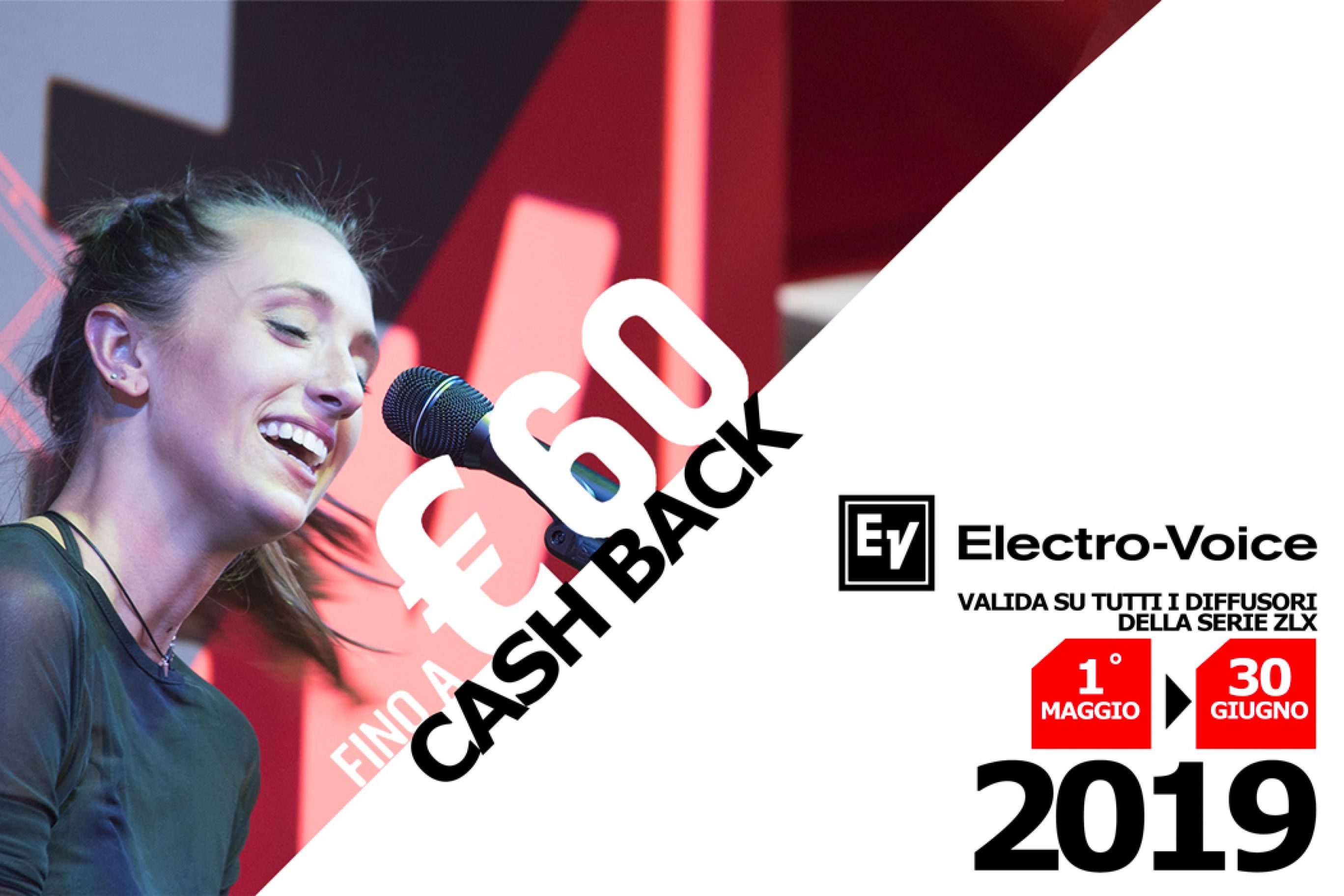Fino a 60 euro di Rimborso per l'acquisto dei tuoi nuovi diffusori Electro Voice ZLX