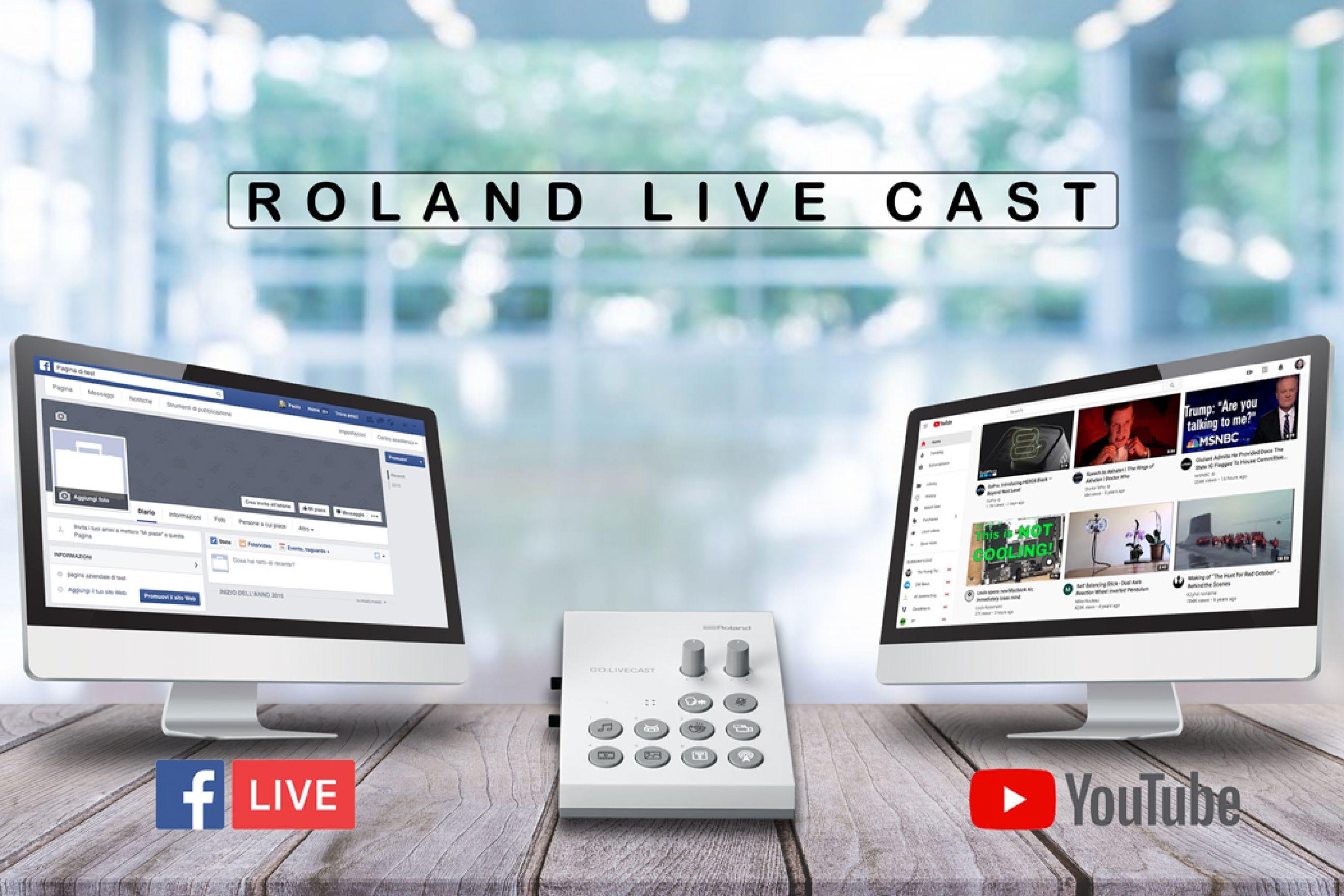 Come fare video live su Facebook o Youtube? Con il Roland Live Cast