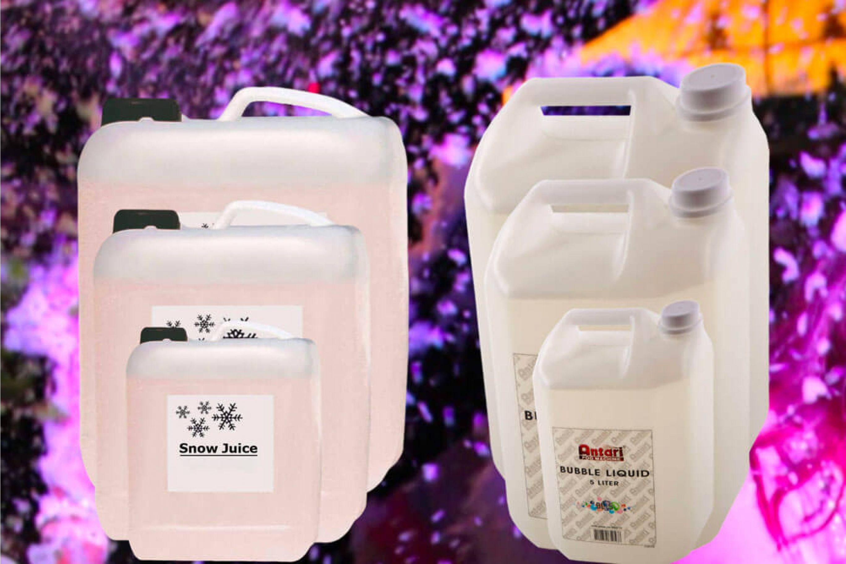 Liquido per le bolle di sapone e liquido per generatori di neve