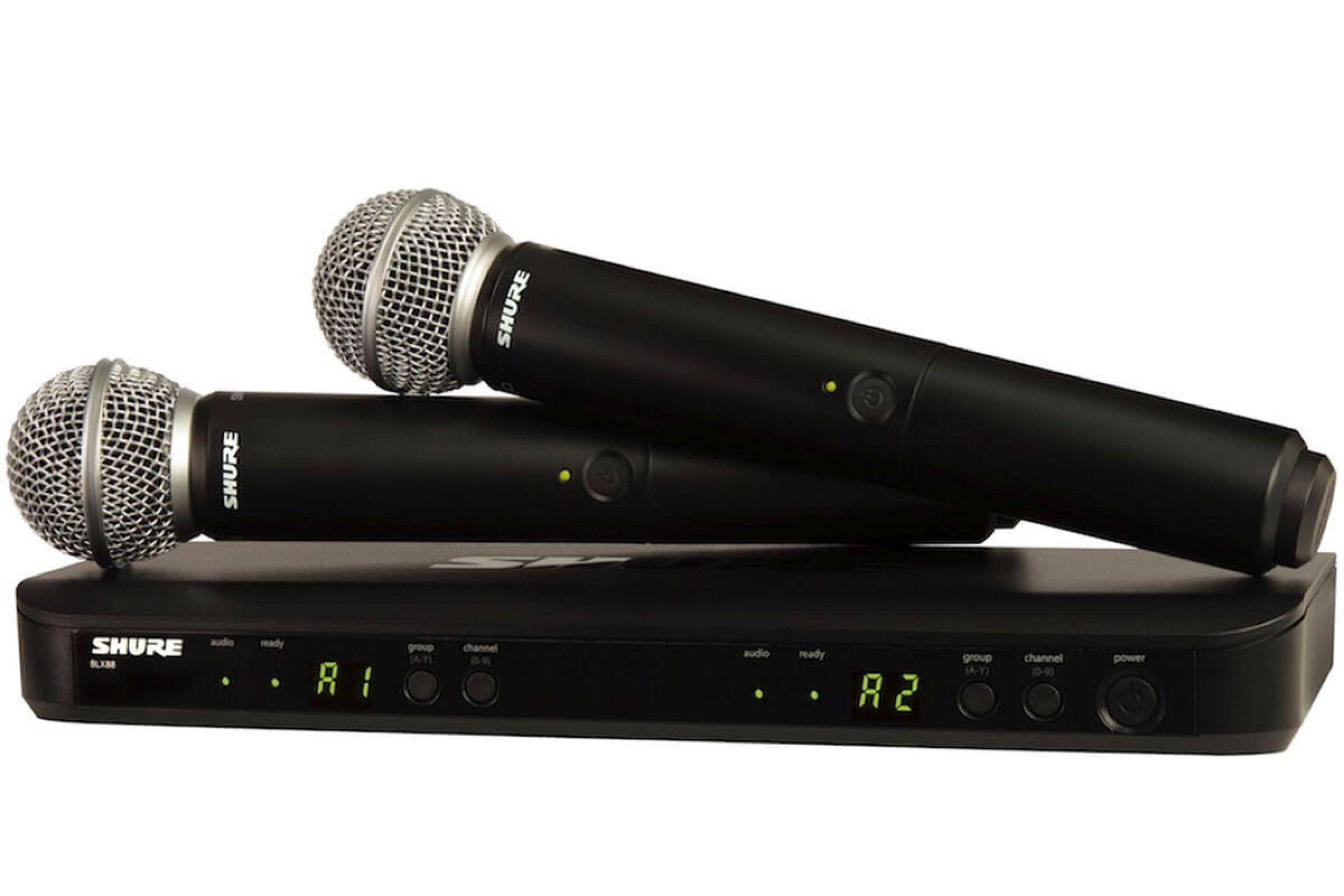 I 2 Microfoni senza fili Shure: wireless Shure beta 58 e lo Shure SM58