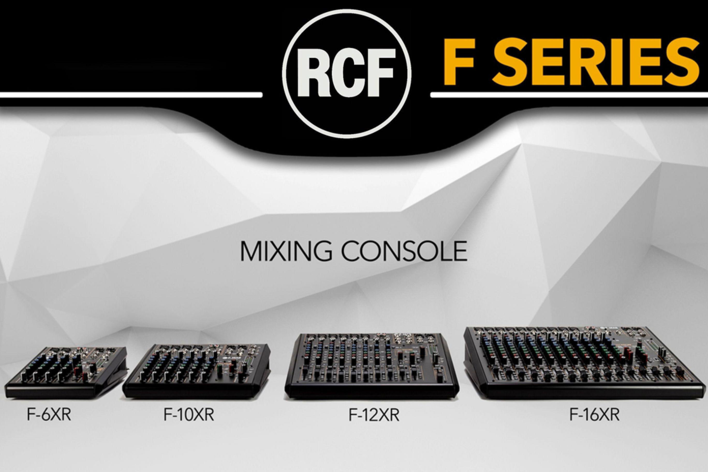 Nuovi Mixer RCF F Series