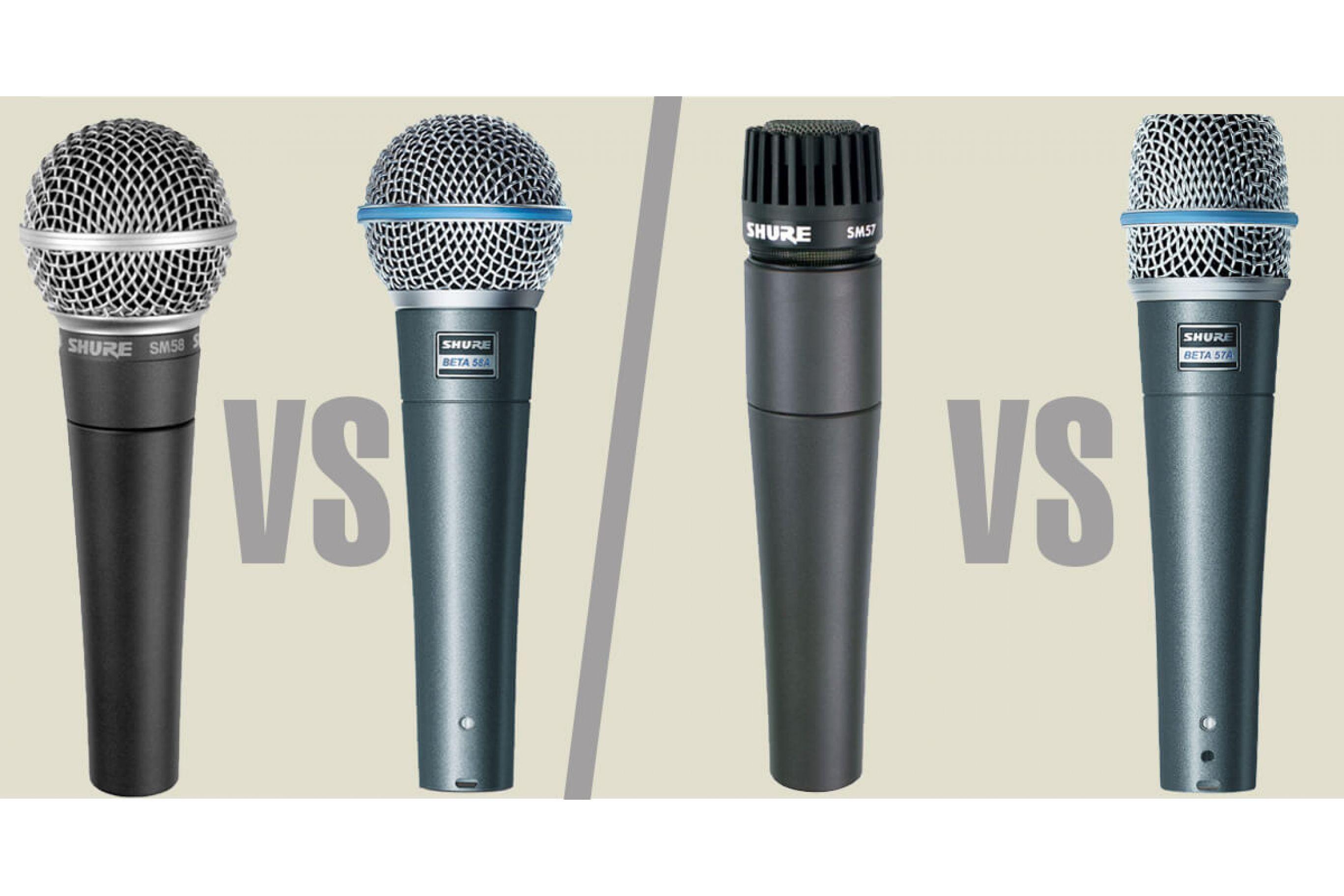 Shure Microfono confronto modelli