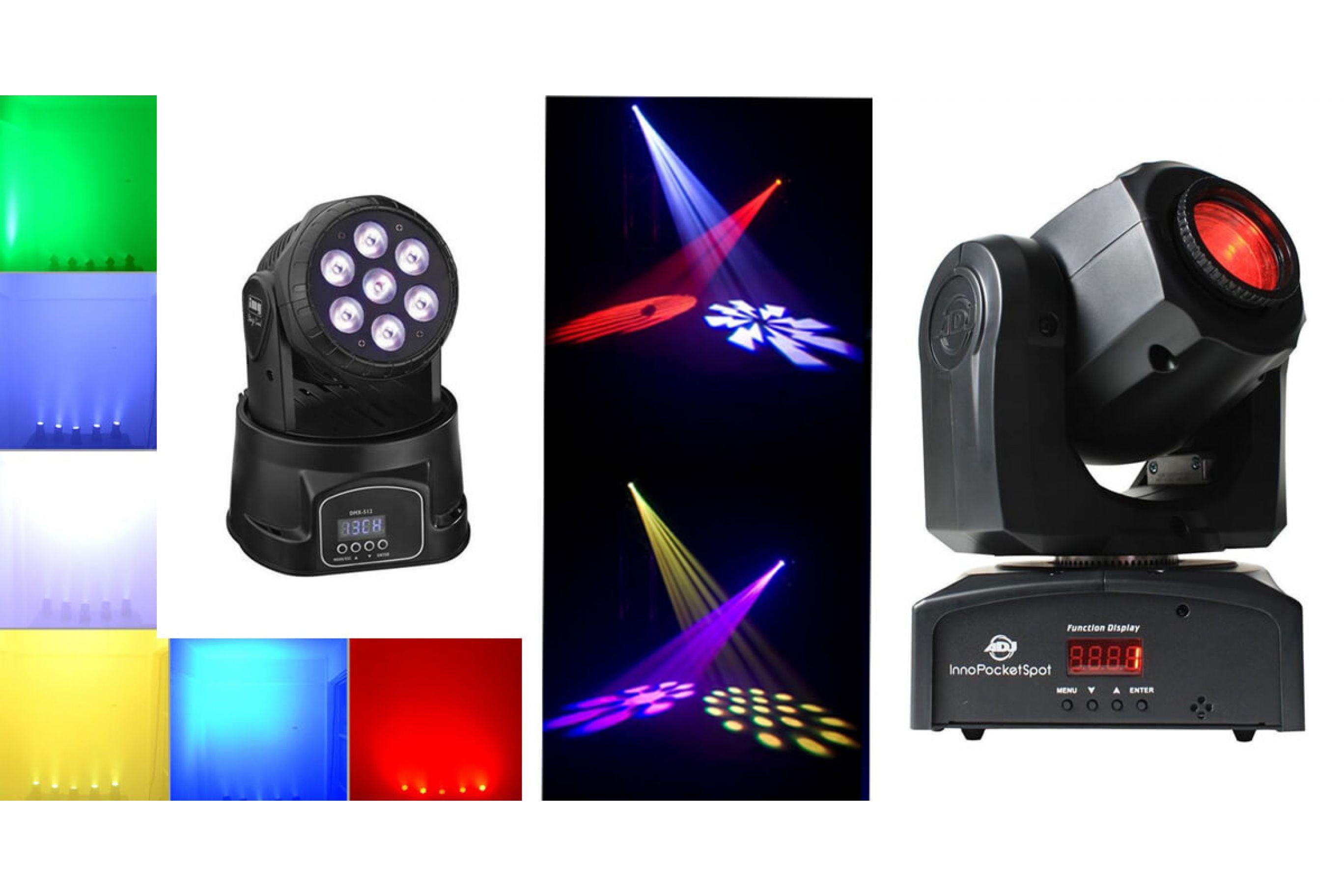 Illuminazione led & luci da discoteca; teste mobili: le migliori a