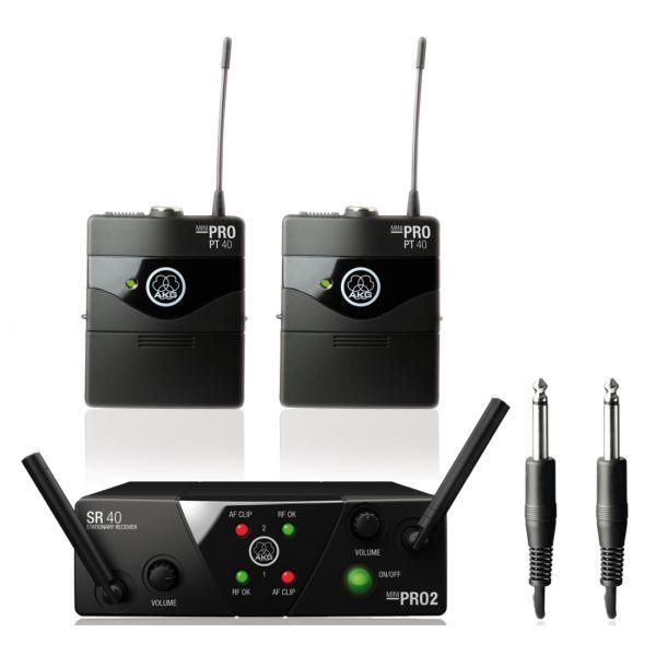 AKG WMS40 Pro Mini 2 Dual Instrumental Set - Sistema Wireless per Strumenti