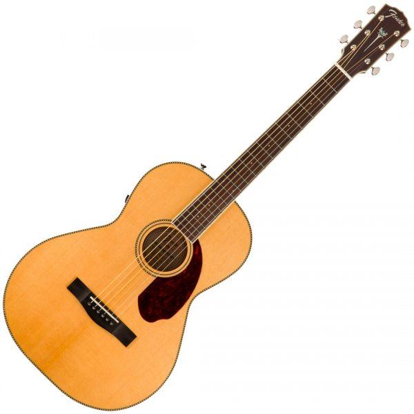 Chitarra Elettroacustica Fender PM-2 Standard Parlor Natural con Case