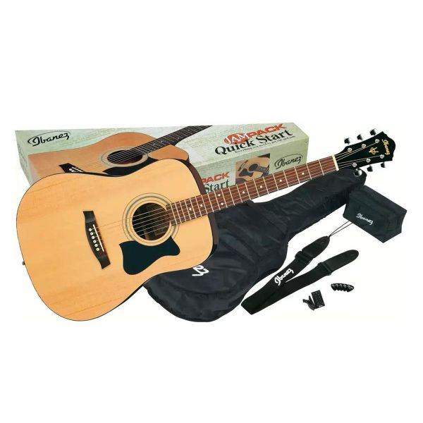 Chitarra acustica pack completo ibanez