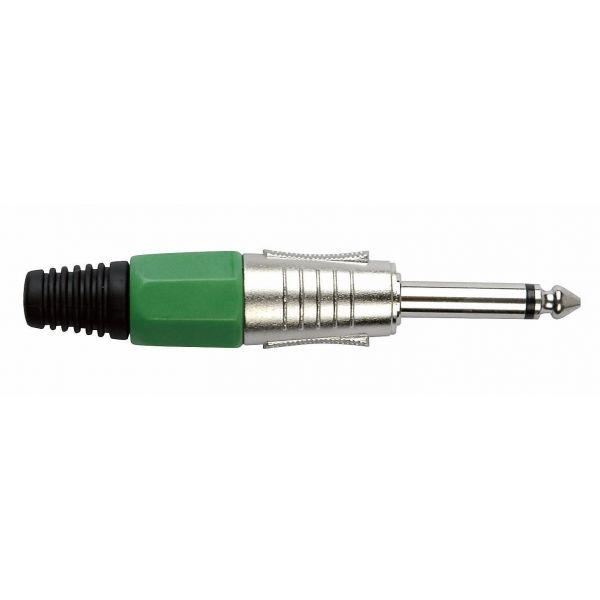 DAP-Audio - 6.3 mm Jackplug Mono, Nickel housing - Cappuccio finale verde