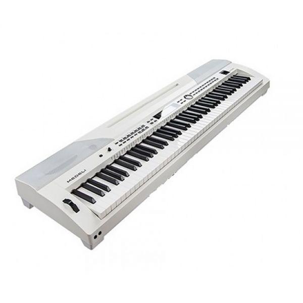 0 MEDELI SP-4200-WH - Stage Piano Con Tastiera A 88 Tasti Hammer Action, Accompagnamenti Automatici E Finitura Di Colore Bianco.