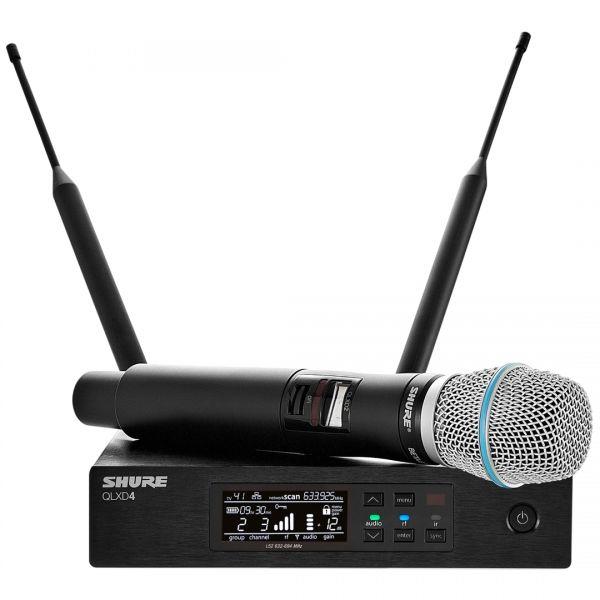 Shure QLXD24E/Beta 87C G51 - Radiomicrofono Sistema Microfonico Wireless Senza Fili UHF con Trasmettitore Palmare
