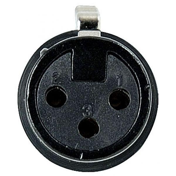 DAP-Audio - XLR 3p. Connector Female, Black housing - Nero
