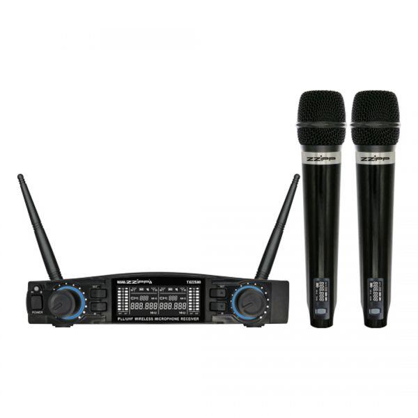 ZZIPP TXZZ580 Set Radiomicrofono con 2 Gelati UHF 48 Canali Wireless