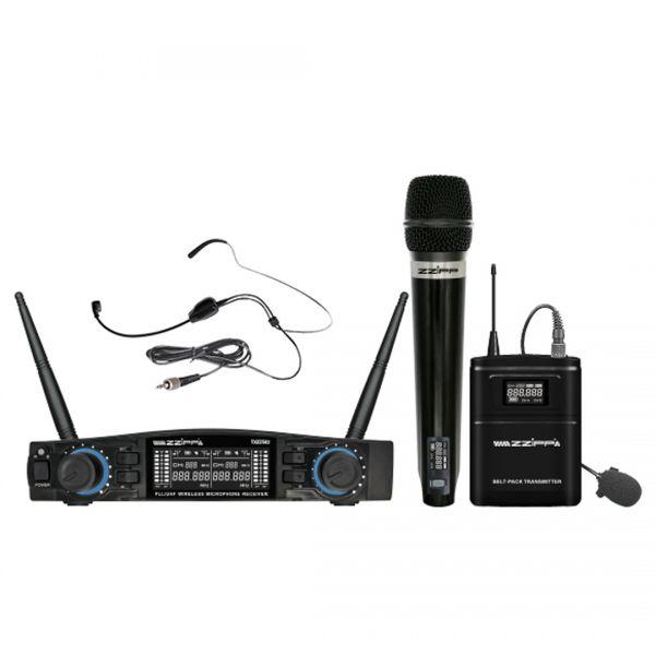 ZZIPP TXZZ582 Set Radiomicrofono con 1 Gelato e Archetto UHF 48 Canali Wireless