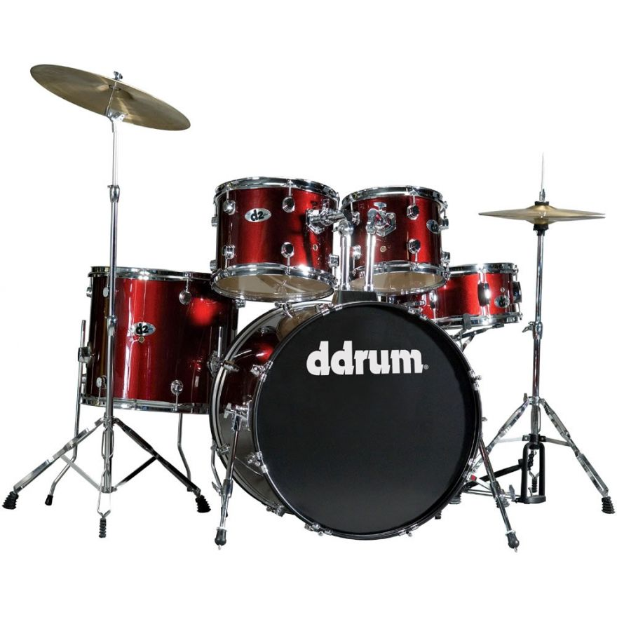 DDrum D2 BR Blood Red - BATTERIA ACUSTICA KIT COMPLETO