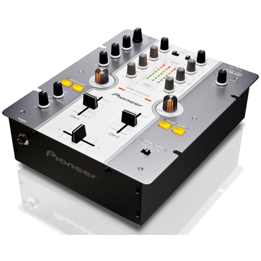 PIONEER DJM250W White - MIXER DJ 2 CANALI CON 2 FILTRI AUDIO