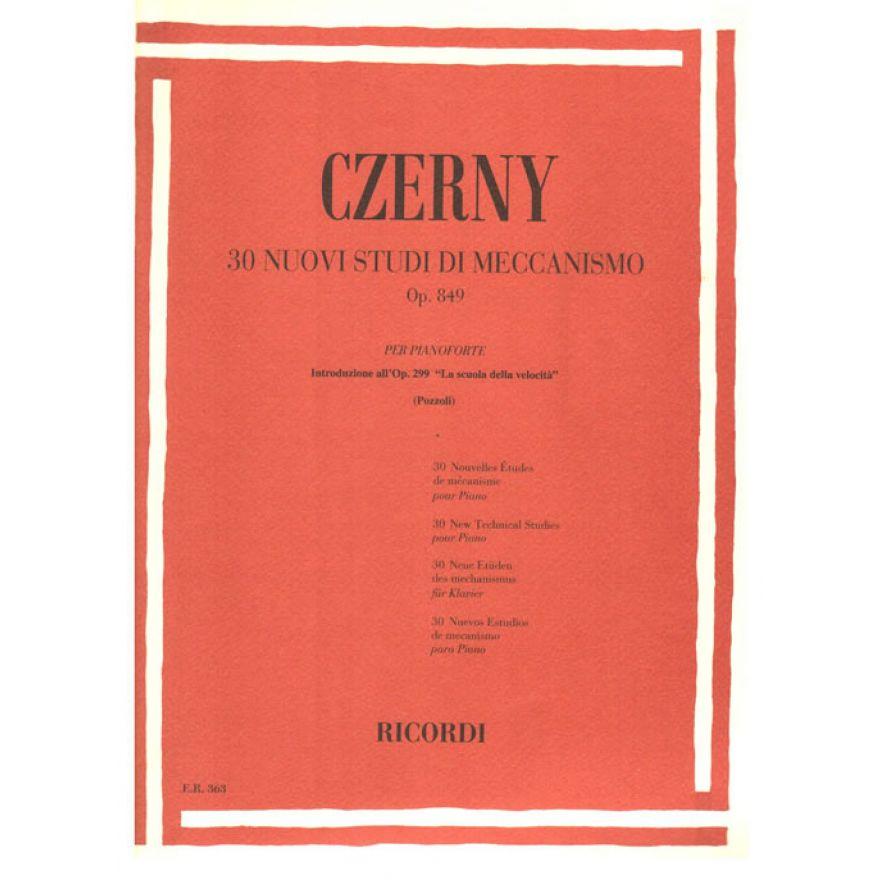 RICORDI Czerny, Carl - 30 NUOVI STUDI DI MECCANISMO OP. 849