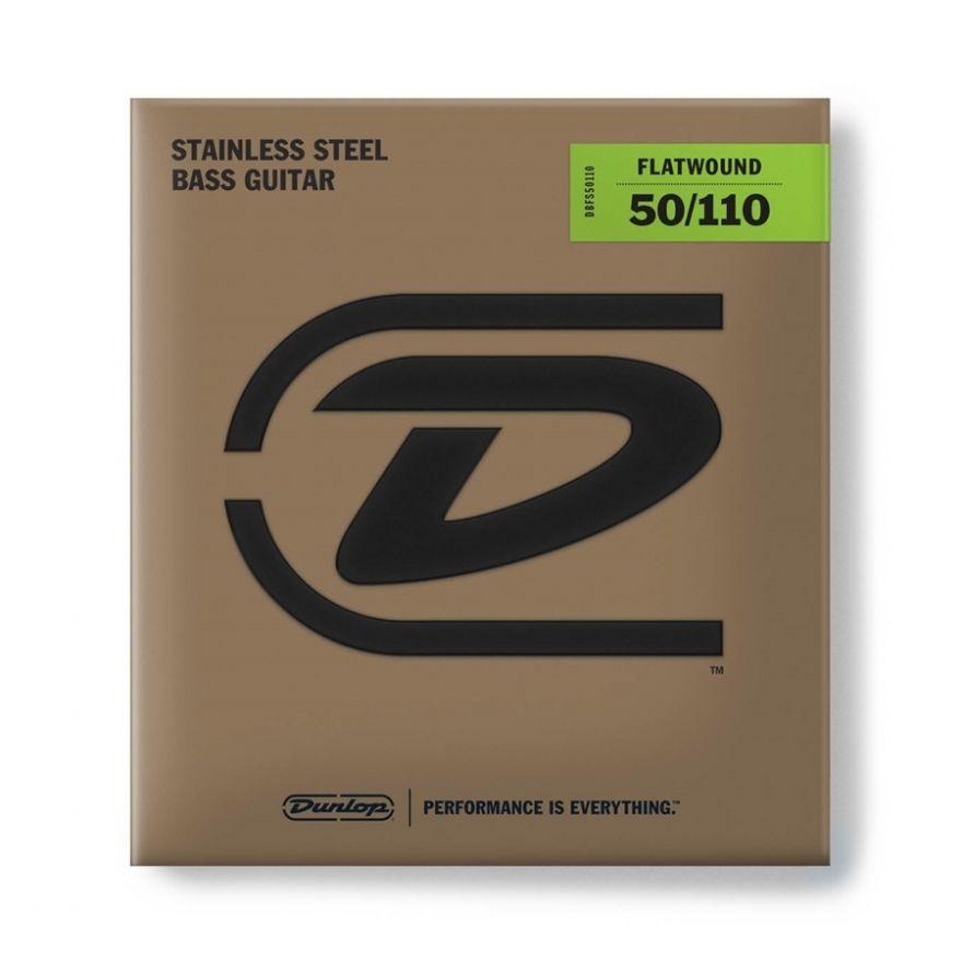 Dunlop - DBFS50110 Flatwound Scala Lunga 50-110 4/Set