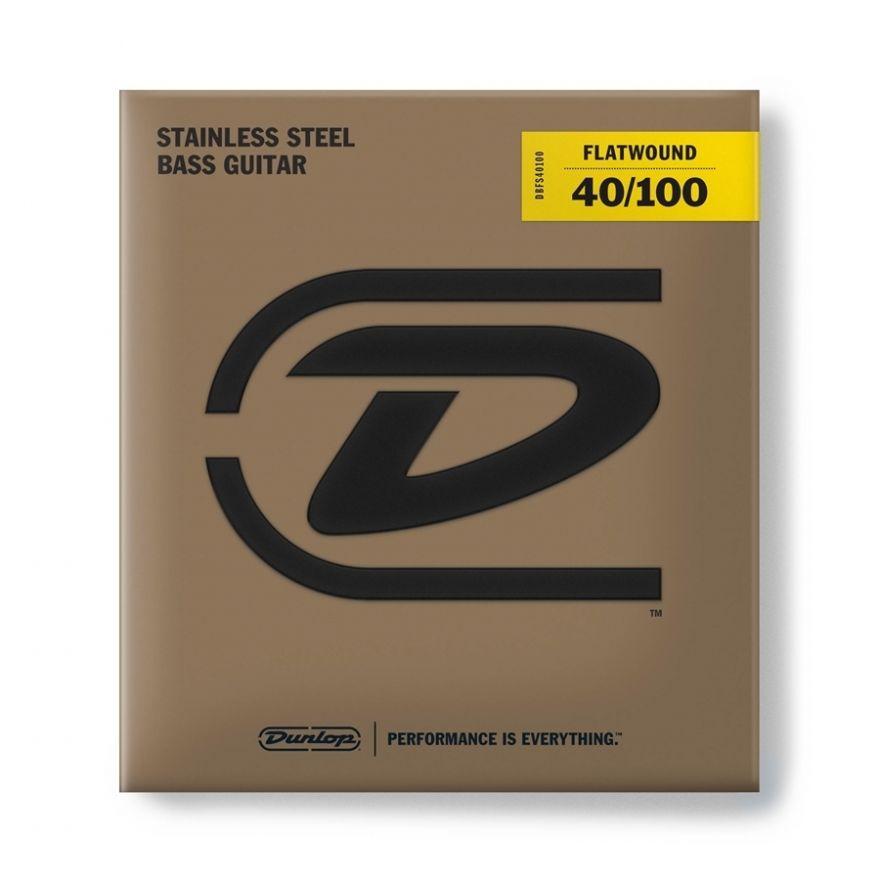 Dunlop - DBFS40100 Flatwound Light Scala lunga Set/4