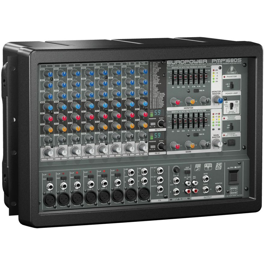 BEHRINGER EUROPOWER PMP1680S - MIXER AMPLIFICATO 1600W 10 CANALI