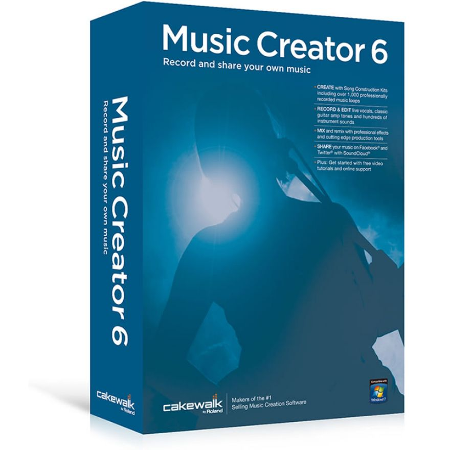 CAKEWALK MUSIC CREATOR 6 - SOFTWARE PER REGISTRAZIONE