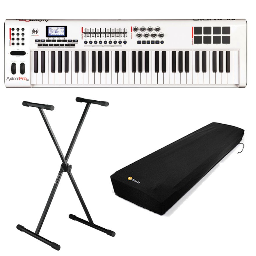 M-AUDIO AXIOM PRO 61 + KEYBOARD COVER SMALL + Quiklok T10 - Bundle