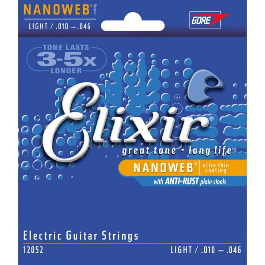 ELIXIR 12052 NANOWEB - MUTA CORDE PER CHITARRA ELETTRICA 010-046