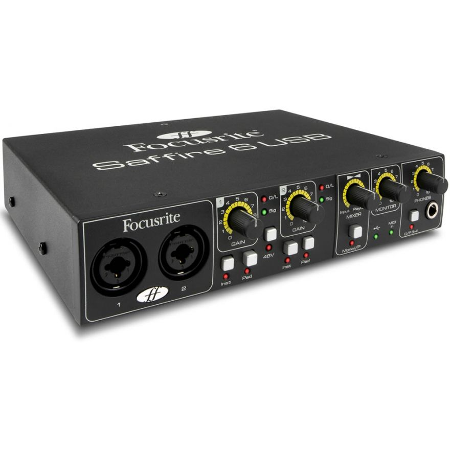 FOCUSRITE SAFFIRE 6 USB - Scheda Audio USB 4OUT/2IN