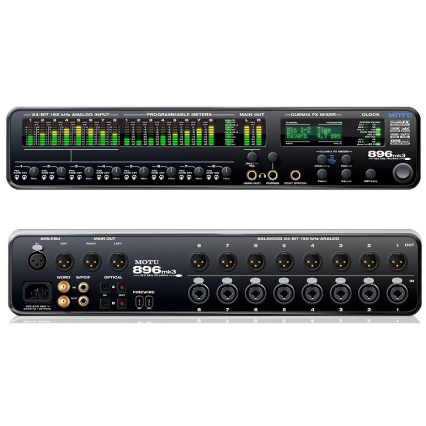 MOTU 896 MK3- SCHEDA AUDIO USB/FIREWIRE