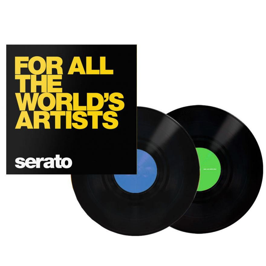 SERATO Black For All The Worlds 12 (COPPIA) - VINYL CONTROL PER SERATO