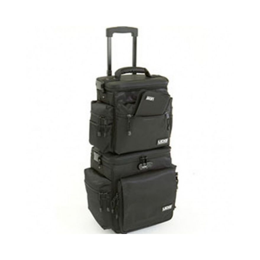 UDG SLINGBAG TROLLEY SET DELUXE BLACK ORANGE INSIDE