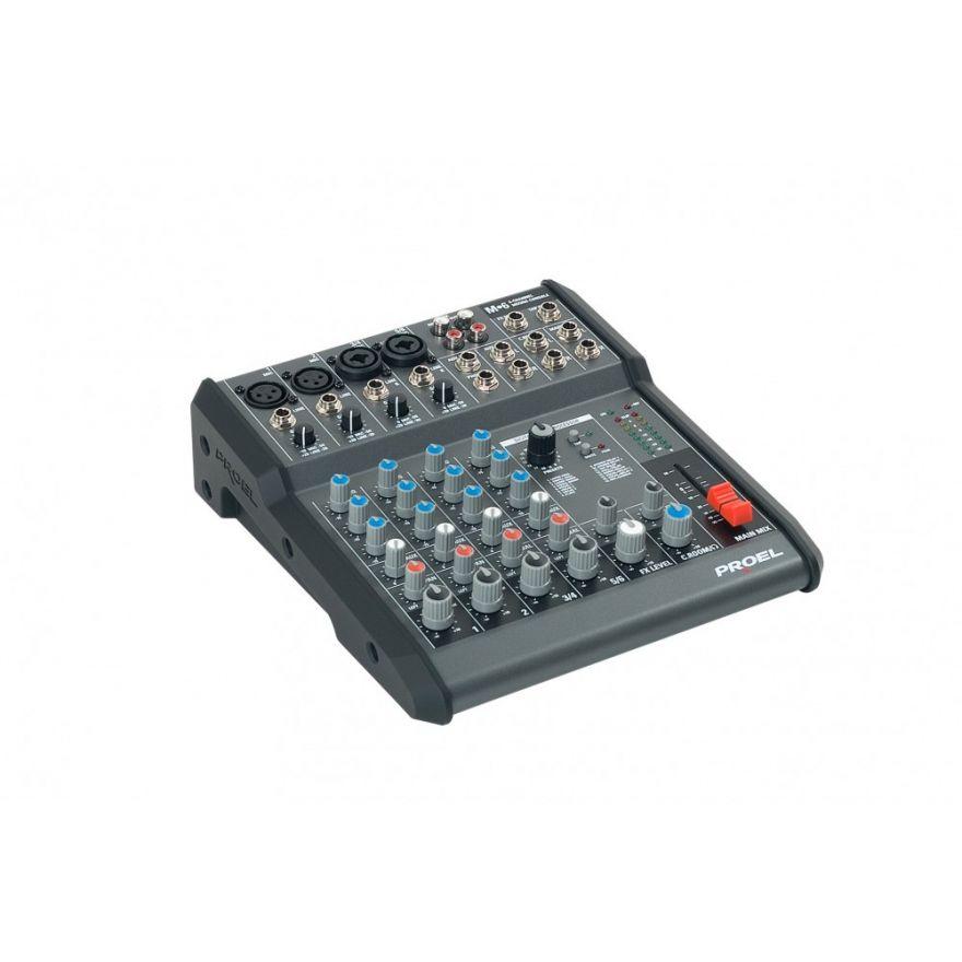 PROEL M6 - Mixer 6 input 2 output con effetti