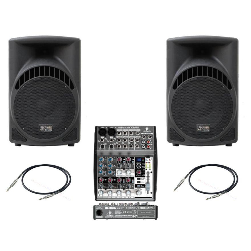 Audio Tools ST208A + Mixer BEHRINGER Xenyx 1002fx + Cavi 3mt - Bundle