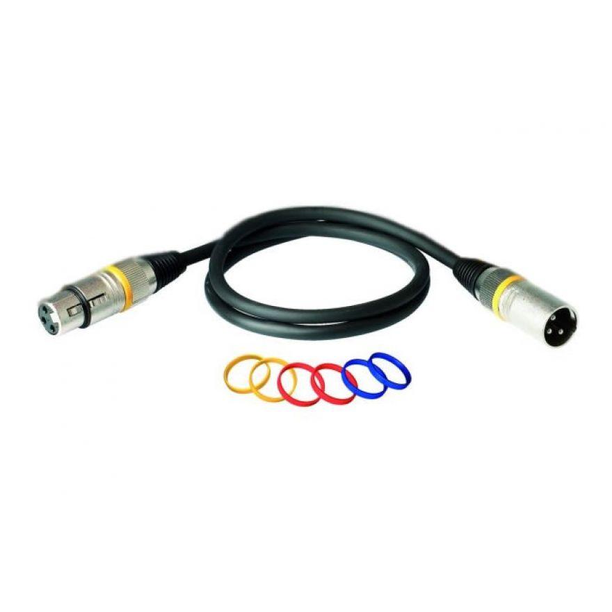 ROCKCABLE RCL 30356 D6 Cavo microfonico,lungh. 6 m, XLR(F)-XLR(M