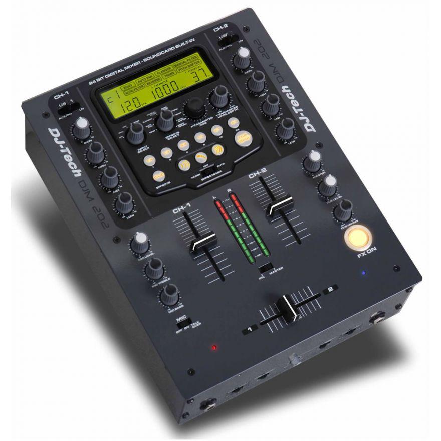 DJ TECH DJM202 - MIXER USB 2 CANALI PER DJ