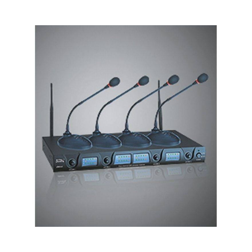 QUIKLOK QCW1.4 - 4 RADIOMICROFONI WIRELESS PER CONFERENZE