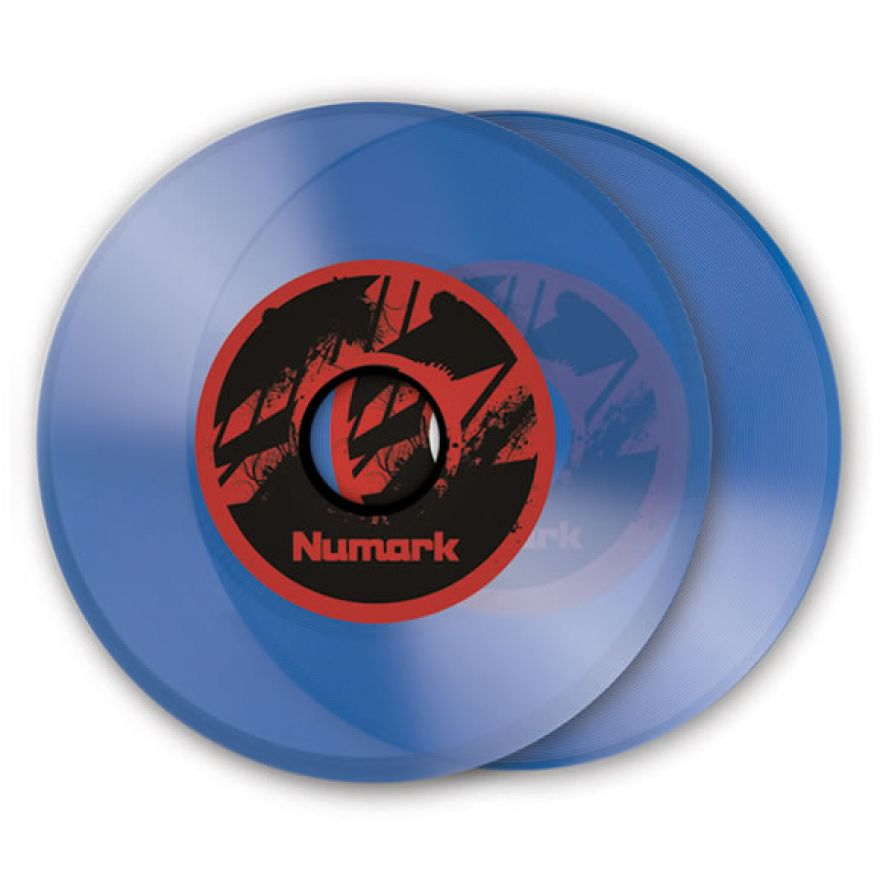 NUMARK NS7 COLORED VINYL - 2 VINILI DI RICAMBIO BLU