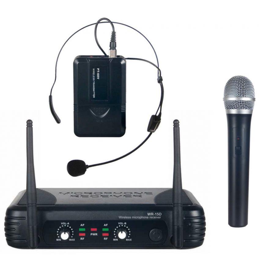 KARMA SET 7322PL - DOPPIO RADIOMICROFONO UHF PALMARE/LAVALIER