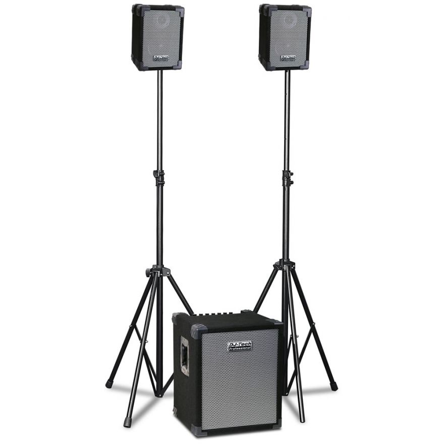 DJ TECH CUBE 202 - SISTEMA PA 280W (SUBWOOFER + 2 SATELLITI)